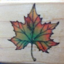 Rubber Stamp Fall Autumn Maple Leaf Comotion Scrapbooking Card Making Craft