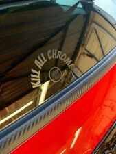 1 x Kill All Chrome Wiper Decal Sticker Matt Black