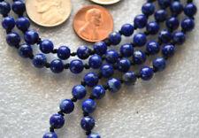 Lapis Lazuli A+ Hand Knotted Buddhist Purifying Cleansing Chakra Mala Bead Neckl