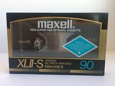 MAXELL XL II-S 90 BLANK AUDIO CASSETTE TAPE NEW RARE 1986 YEAR JAPAN MADE