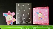 Sanrio Usahana Bunny Christmas Holiday Snow Flake Card Note & Pouch - Xmass