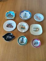 Bundle Of Rare Vintage Collectors Italy Ashtrays Souvenirs Trinket Dish Plates