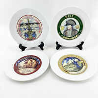 """Vintage Restoration Hardware Set of Four Assorted Classic Cheese Plates 7 3/4"""""""