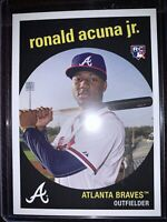 2018 Topps Throwback Thursday Ronald Acuna Jr. RC Card #160 Rookie SP🔥Braves🔥