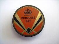 "Vintage ""Princess Pat"" Deco Tin with Crown & Black & Gold Diamond Shape *"