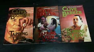 1989 ECLIPSE BOOKS CLIVE BARKER TAPPING THE VEIN BOOK 1, 2 AND 5 HIGH GRADE LOT