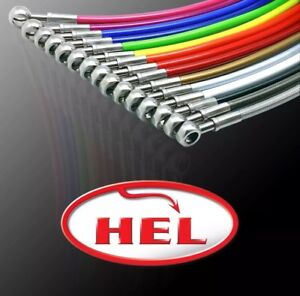 HEL PERFORMANCE Braided Brake Lines For AUDI S8 5.2 FSI EXC. CERAMIC DISCS 2006-