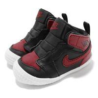 Nike Jordan 1 CRIB Bootie I AJ1 Bred Black Red TD Toddler Infant Shoe AT3745-023
