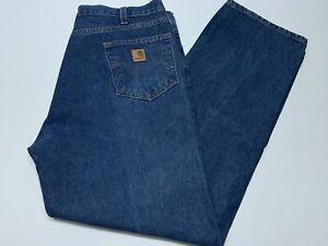 Mens Carhartt Relaxed Fit Blue Jeans Denim B460 DVB Size 39x32