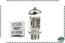 Ecc83/12ax7a mazda silver chrome tube, valve, röhren, nos, nib, tested