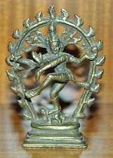 Vintage Nataraja Hindu Dancing Lord Shiva bronze figure 11 4.30 occult antique