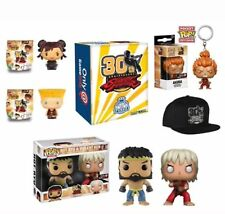 Funko Pop Street Fighter 30th Anniversary Hot Ryu & violentos Ken Etc GameStop Caja