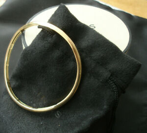 Links of London 18ct solid yellow gold Essentials Infinite bangle Boxed w/pouch