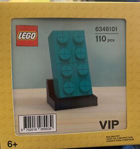 NIB LEGO VIP 110-Piece Teal Building Brick Set (6346101)