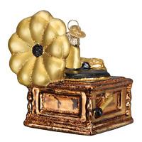 """Phonograph"" (38049)X Old World Christmas Glass Ornament w/ OWC Box"