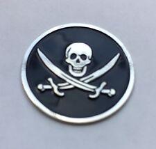 New Skull and Swords Crossbones Pirate Golf Ball Marker