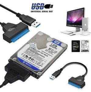 ✅USB 3.0 zu SATA 22 Pin externes Adapter Kabel für 2.5 Zoll Festplatten HDD SSD✅