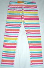 Gymboree Sugar Reef Multi Color Pink Blue Striped Stretch Leggings 5T Girls NWT