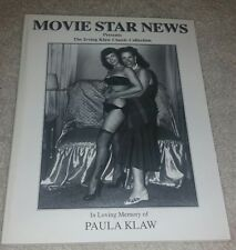 IRVING KLAW MOVIE STAR NEWS PIN UP CATALOG FEATURING BETTIE PAGE TEMPEST STORM +