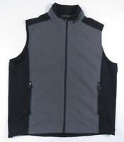 Eddie Bauer Windcutter Fleece Vest Full Zip Gray And Black Men's XL Tall NWOT