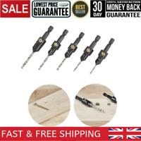 5 Piece Countersink Set Trend Snappy Professional Countersink Wood Drill Bit Set