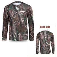 Men Long Sleeve Camo T-Shirt Quick Drying Clothes Outdoor Hunting Breathable SD