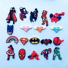 Super Hero Bracelets Charm Decoration for /Croc/Jibbitz Child Gifts 19PCS
