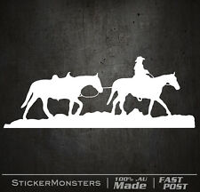 HORSE RIDING COWBOY COUNTRY Sticker Decal 320mmW Outback AUSSIE 4X4 BNS