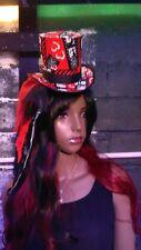 ladies lace veil Fascinator Top Hat & Clutch -Betty Boop -Bridal -burlesque