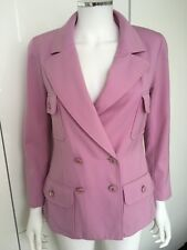 CHANEL fitted purple jacket blazer vintage S XS 6 8 36 office dress y party