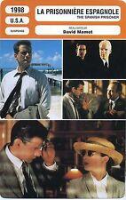 Movie Card. Fiche Cinéma. La prisonnière espagnole/The spanish prisoner USA 1998
