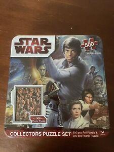 Star Wars Collector's Puzzle Set - 500 Pc. Foil Puzzle & 300 pc Poster Puzzle