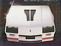 1983 Chevrolet Camaro Brochure Z28 Berlinetta Sport Coupe Excellent Original 83