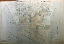 New Listing1952 Miami Beach Kennel Club Florida South Beach Biscayne Bay To Ocean Atlas Map