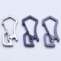 Stainless Steel Outdoor Survival EDC Keyring Keychain Tactical Carabiner Hook