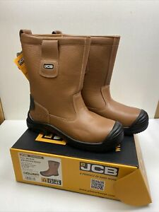 JCB Rigger Safety Boot Tan Apollo Leather New Size 11