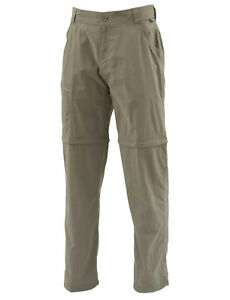 Simms Superlight Zip-Off Pant - Tumbleweed- Medium - Sale & Free US Shipping
