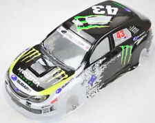 DIY HPI HSP RC SUBARU MONSTER ENERGY Drift Car 1/10 PVC Car Body shell 94122