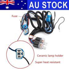 AU Car 12V H4 4 Lamp Bulbs Headlight Wire Wiring Harness Ceramic Relay Socket