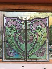 paire de vitraux style 1900