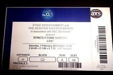 Strictly Come Dancing Live- Used Concert Ticket -  O2 London February 2015
