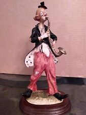 Large Clown Figurine, Playing A Sax.11.5 Inches