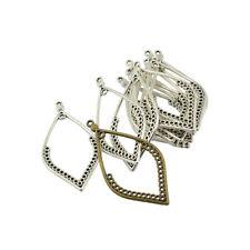 24Pcs Antiqued Bronze Charms Waterdrop Locket Frame Pendants Jewelry Making