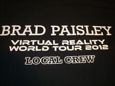 Brad Paisley Virtual Reality  World Tour 2012 Local Crew T-shirt