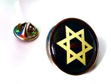 GOLD STAR OF DAVID RELIGION LAPEL PIN BADGE GIFT
