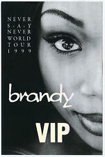 Brandy 1999 Never Say Never Concert Tour Backstage Pass! Authentic T-Bird #11