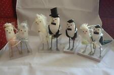 Silvestri Ann Wood Enchanted Evening Bird 7 Wedding Party Cake Topper Ornaments