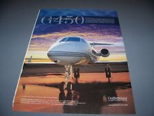 VINTAGE..2011 GULFSTREAM G450...ORIGINAL COLOR 1-PAGE SALES AD...RARE! (236K)