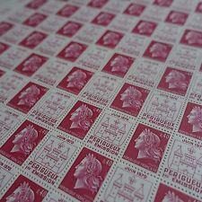 FEUILLE SHEET MARIANNE DE CHEFFER PÉRIGUEUX N°1643 x50 1970 NEUF ** LUXE MNH