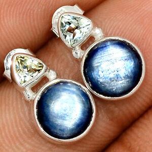 Kyanite - Brazil & Blue Topaz 925 Sterling Silver Earring Jewelry BE58471